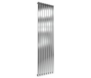 Reina Flox Polished Stainless Steel Single Panel Flat Radiator 1800mm x 472mm