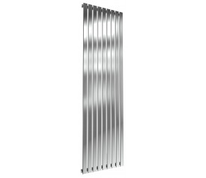 Reina Flox Polished Stainless Steel Single Panel Flat Radiator 1800mm x 531mm