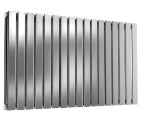 Reina Flox Polished Stainless Steel Double Panel Flat Radiator 600mm x 1003mm