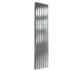 Reina Flox Polished Stainless Steel Double Panel Flat Radiator 1800mm x 413mm
