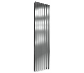 Reina Flox Polished Stainless Steel Double Panel Flat Radiator 1800mm x 472mm