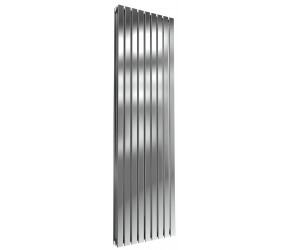Reina Flox Polished Stainless Steel Double Panel Flat Radiator 1800mm x 531mm