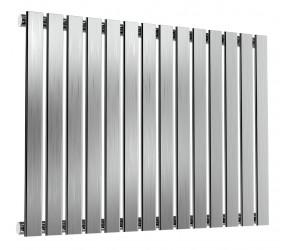 Reina Flox Brushed Stainless Steel Single Panel Flat Radiator 600mm x 826mm