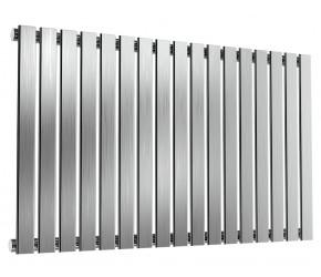 Reina Flox Brushed Stainless Steel Single Panel Flat Radiator 600mm x 1003mm