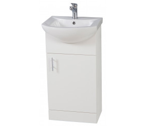 Iona Verona Gloss White Floor Standing Vanity Unit and Basin 450mm