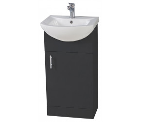Iona Verona Anthracite Floor Standing Vanity Unit and Basin 450mm