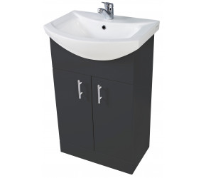 Iona Verona Anthracite Floor Standing Bathroom Vanity Unit and Basin 650mm