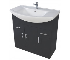 Iona Verona Anthracite Floor Standing Bathroom Vanity Unit and Basin 750mm