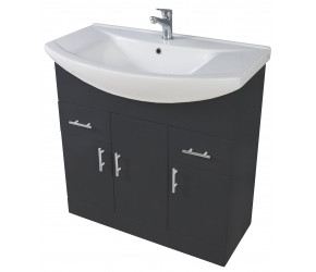 Iona Verona Anthracite Floor Standing Bathroom Vanity Unit and Basin 950mm