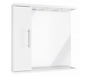 Iona Verona Gloss White Mirror Unit With Lights 750mm