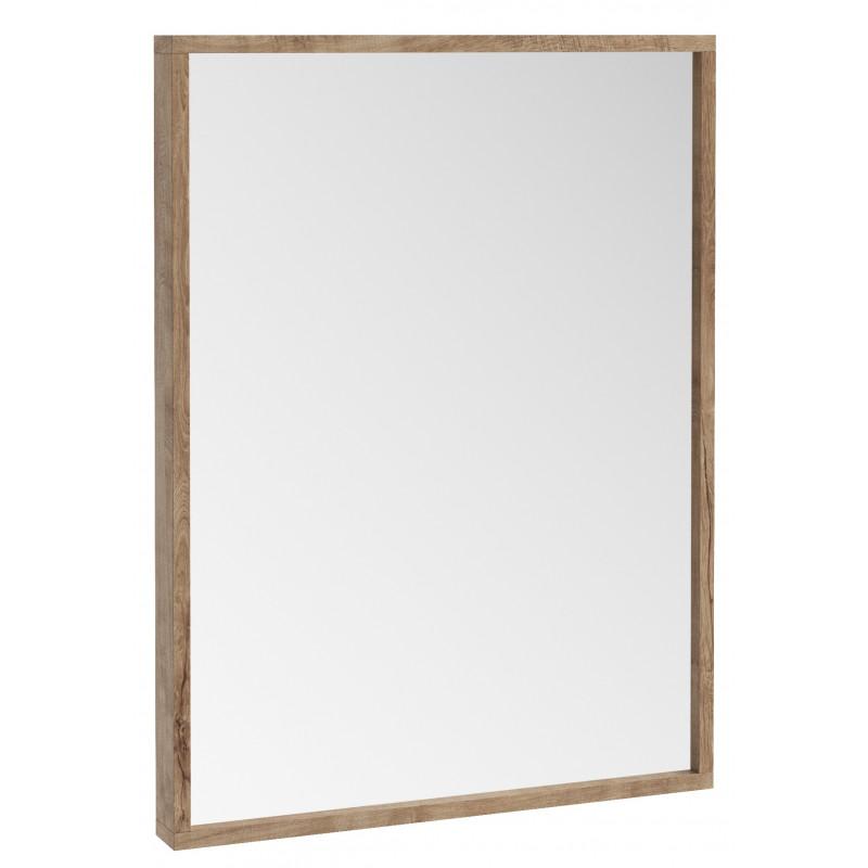 Iona Illumo Rustic Oak Bathroom Mirror, Oak Framed Bathroom Mirrors