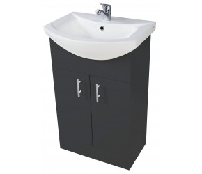 Iona Verona Anthracite Floor Standing Bathroom Vanity Unit and Basin 550mm