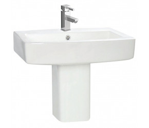 Iona Vola 570mm One Taphole Basin and Semi Pedestal