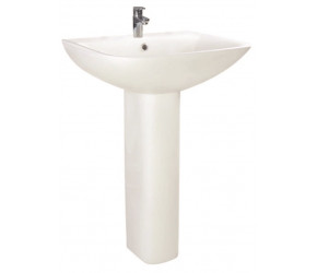 Iona Nix 550mm One Taphole Basin and Full Pedestal