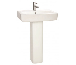 Iona Vola 570mm One Taphole Basin and Full Pedestal