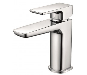 Iona Uno Chrome Mono Basin Mixer Tap With Push Waste