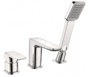 Iona Uno 3 Taphole Deck Mounted Bath Shower Mixer Tap