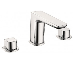 Iona Uno Chrome 3 Taphole Deck Mounted Bath Filler Tap