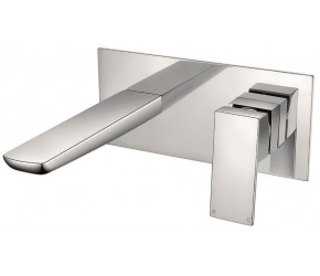 Iona Uno Chrome Wall Mounted Basin Mixer Tap