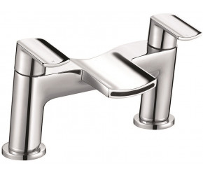 Iona Nero Chrome Bath Filler Tap