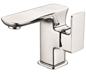 Iona Otto Chrome Side Arm Mono Basin Mixer Tap With Push Waste