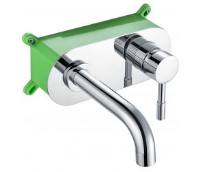Iona Zico Chrome Wall Mounted Basin Mixer Tap With EZ Box