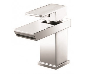 Iona Vito Chrome Mono Basin Mixer Tap With Push Waste