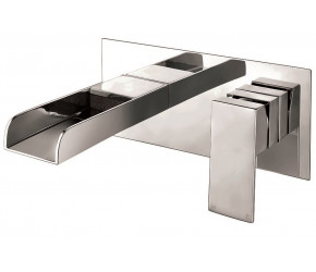 Iona Neto Chrome Wall Mounted Basin Mixer Waterfall Tap