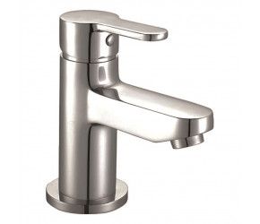 Iona Endo Chrome Mono Basin Mixer Tap With Push Waste