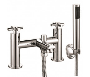 Iona Exo Chrome Crosshead Bath Shower Mixer Tap