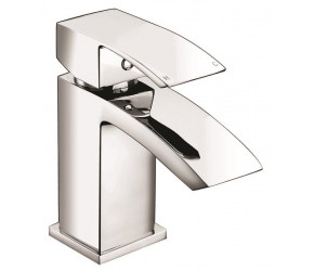 Iona Distro Chrome Mini Mono Basin Mixer Tap With Push Waste
