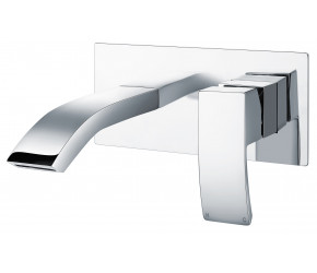 Iona Distro Chrome Wall Mounted Basin Mixer Tap