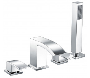 Iona Distro Chrome 4 Taphole Deck Mounted Bath Shower Mixer Tap