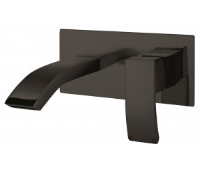 Iona Distro Matt Black Wall Mounted Basin Mixer Tap