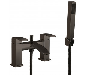 Iona Distro Matt Black Bath Shower Mixer Tap