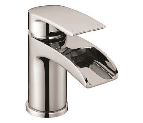 Iona Vino Chrome Mono Basin Mixer Waterfall Tap With Push Waste