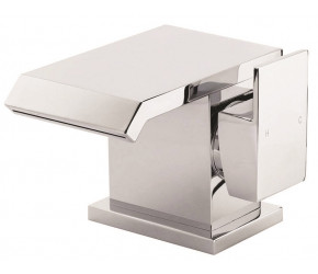 Iona Kano Chrome Mono Basin Mixer Tap With Push Waste
