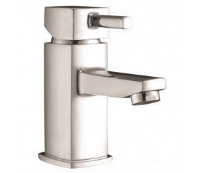 Iona Zero Chrome Mono Basin Mixer Tap With Push Waste