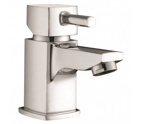 Iona Zero Chrome Mini Mono Basin Mixer Tap With Push Waste
