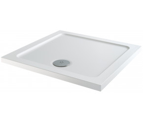 Iona 40mm Stone Resin Square Shower Tray 700mm x 700mm