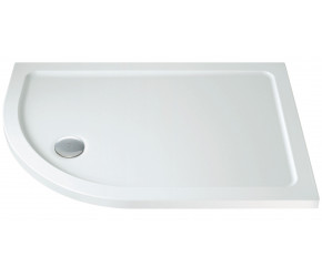 Iona 40mm Stone Resin Offset Quadrant Shower Tray Left Hand 900mm x 800mm