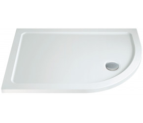 Iona 40mm Stone Resin Offset Quadrant Shower Tray Right Hand 900mm x 800mm