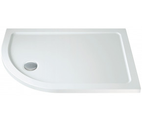 Iona 40mm Stone Resin Offset Quadrant Shower Tray Left Hand 1200mm x 800mm
