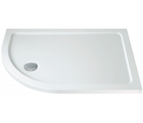 Iona 40mm Stone Resin Offset Quadrant Shower Tray Left Hand 900mm x 760mm