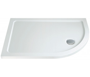 Iona 40mm Stone Resin Offset Quadrant Shower Tray Right Hand 900mm x 760mm