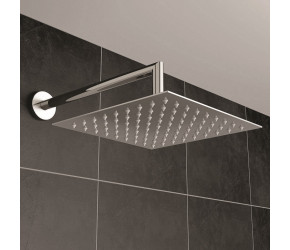 Iona Square Concealed Thermostatic Shower Valve With Overhead Shower