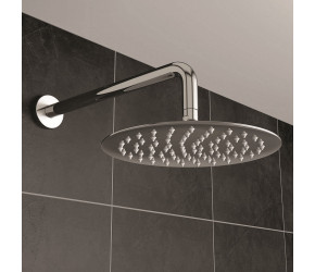 Iona Chrome Ultra Slim Round Shower Head 200mm