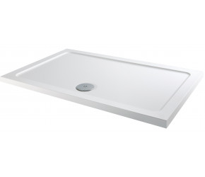 Iona 40mm Stone Resin Rectangle Shower Tray 1100mm x 800mm