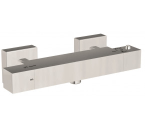Iona Chrome Square Exposed Bar Shower Valve WRAS Approved