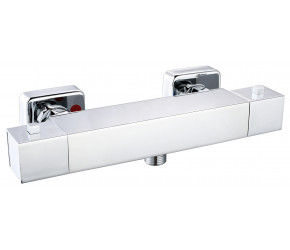 Iona Chrome Square Cool Touch Exposed Bar Shower Valve